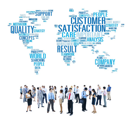 business efficiency: Customer Satisfaction Reliability Quality Service Concept Stock Photo