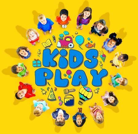 Kids Play Imagination Loisirs Loisirs Jeux Concept Banque d'images - 41191679