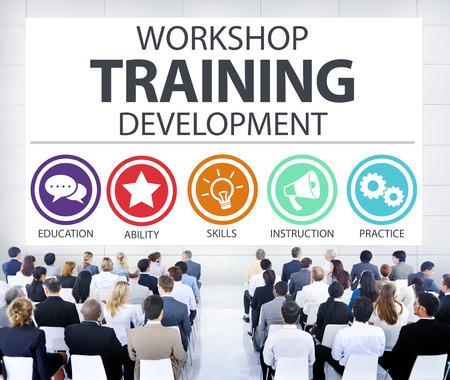 Instruction Atelier de formation Développement Enseignement Concept Banque d'images - 41191596