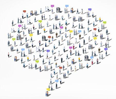 人々 の多様性群衆コミュニティ通信音声バブルのコンセプト 写真素材