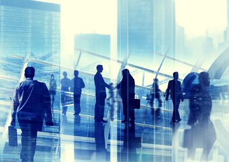 asian ethnicity: Handshake Partnership Agreement Business People Corporate City Concept