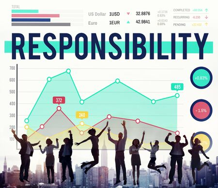 roles: Responsibility Duty Job Liability Roles Concept Stock Photo