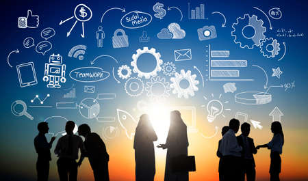 ethnicity: Ethnicity Business Teamwork Partnership Cooperation Concept Stock Photo
