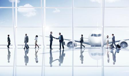 Businessmen Partnership Travel Destination Business Trip Concept