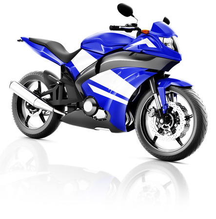propulsion: Motorcycle Motorbike Bike Riding Rider Contemporary Blue Concept