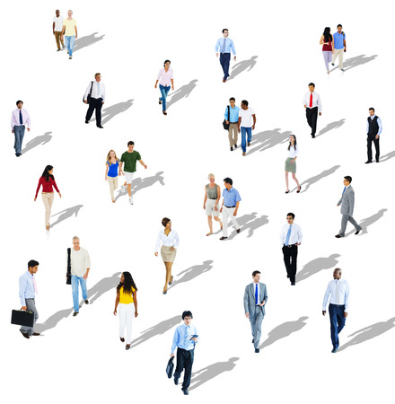 business crowd: Diverse Diversity Ethnic Ethnicity Togetherness Variation Crowd Concept Stock Photo