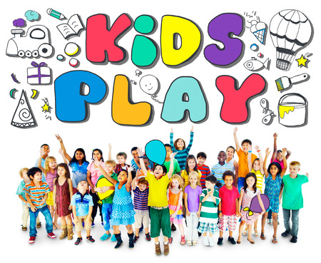 hobbies: Kids Play Imagination Hobbies Leisure Games Concept Stock Photo