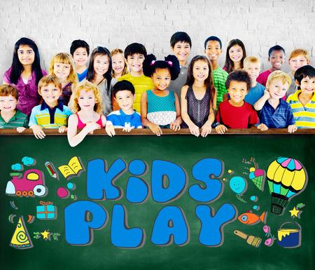 hobbies: Kids Play Imagination Hobbies Leisure Games Concept Stock Photo