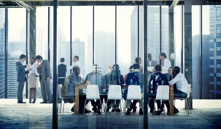 Het bedrijfs mensen spreken Conference Meeting Room Concept