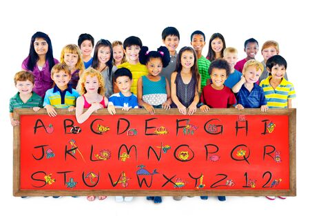 english letters: English Alphabet Letters Number Education Concept