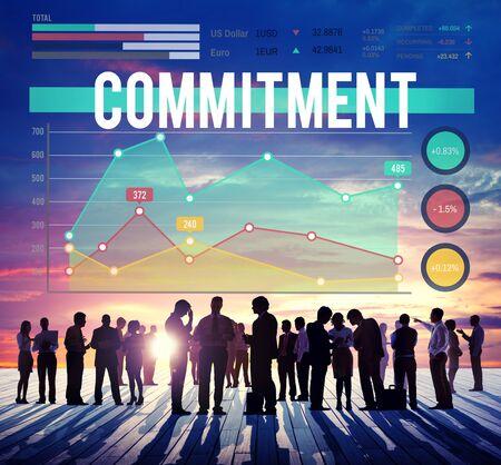 conviction: Commitment Conviction Compliance Dedication Concept