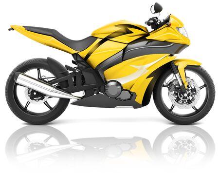 bike riding: Motorcycle Motorbike Bike Riding Rider Contemporary Yellow Concept