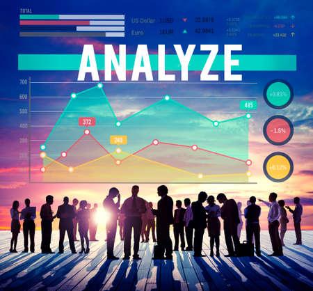 to analyze: Analyze Analysis Strategy Business Marketing Concept