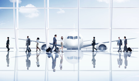 flight mode: Airport Travel Business People Trip Transportation Airplane Concept