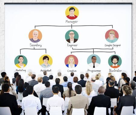 organisational: Business People Meeting Team Company Structure Concept
