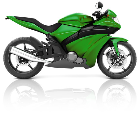 handlebar: Motorcycle Motorbike Bike Riding Rider Contemporary Green Concept