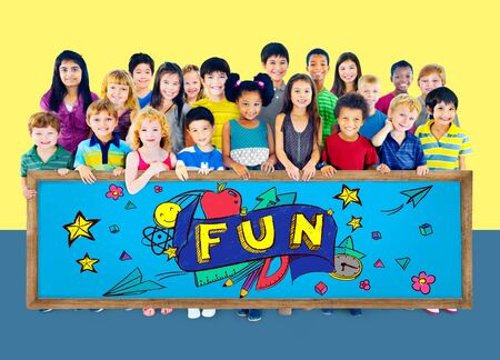 youthful: Fun Joy Smiley Stationery Education Concept Stock Photo