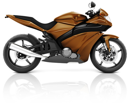 propulsion: Motorcycle Motorbike Bike Riding Rider Contemporary Brown Concept Stock Photo