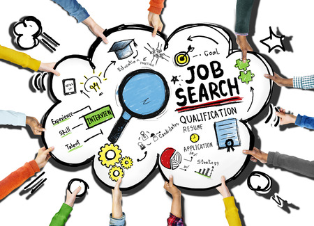 Concept ethnicité mains Exploding Job Search Application Banque d'images - 41186549