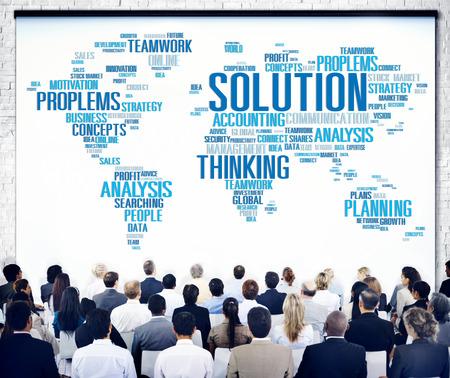 problem solution: Solution Solve Problem Strategy Vision Decision Concept