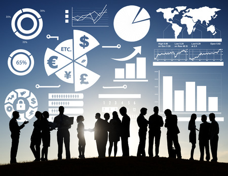accounting: Finance Financial Business Economy Exchange Accounting Banking Concept Stock Photo