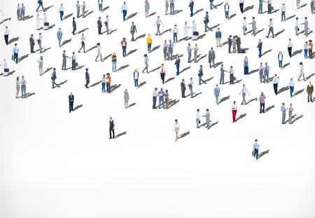 gente adulta: Multitud Grupo grande de personas Multiétnico Diversidad Concepto