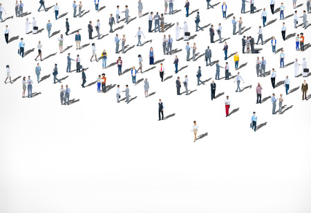Menigte Grote groep van mensen multi-etnische diversiteit Concept Stockfoto