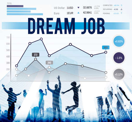 dream job: Dream Job Plan Career Goal Concept Stock Photo