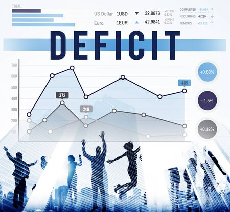 deficit: Deficit Problem Crisis Liability Concept Stock Photo