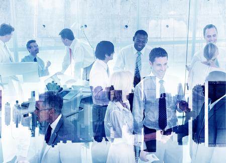비즈니스 사람들이 작업 공생 팀웍 지원 협력 회사