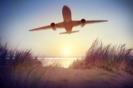 voyage: Destinations Avion Voyage extérieur Concept Banque d'images