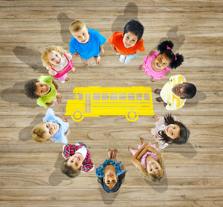 Multiethnic Group of Children with Back to School Concept Stockfoto