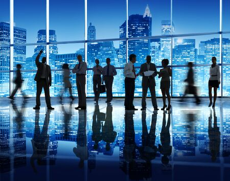 communication concept: Business People Corporate Team Group Office Communication Concept