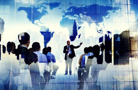 ビジネス人々 グローバル ・ セミナー会議会議研修コンセプト 写真素材