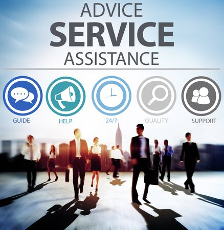 customer support: Advice Service Assistance Customer Care Support Concept Stock Photo