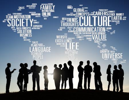 comunidad: Sociedad Cultura Comunidad Ideología Principio Concept