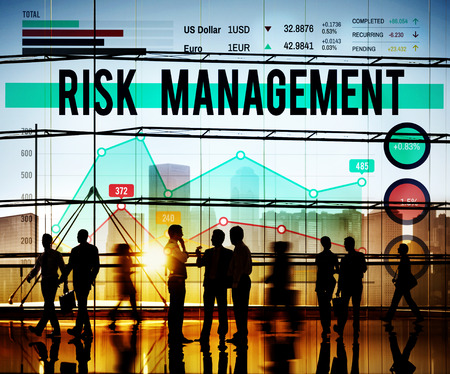 business management: Risk Management Insurance Protection Safety Concept Stock Photo