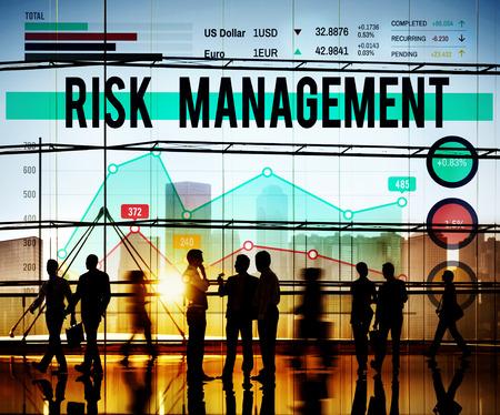 Risk Management Insurance Protection Safety Concept Foto de archivo