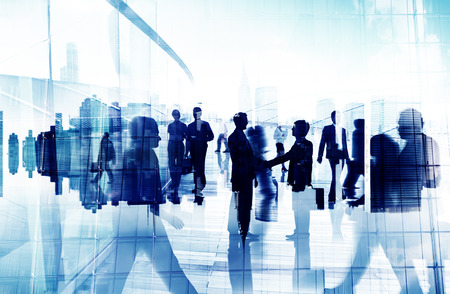 Handshake Partnership Agreement Business People Corporate City Concept