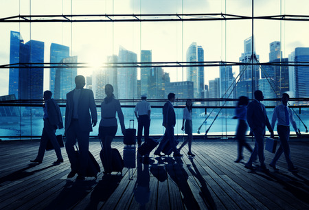 business travel: Business Travel Commuter Corporate Cityscape Trip Concept