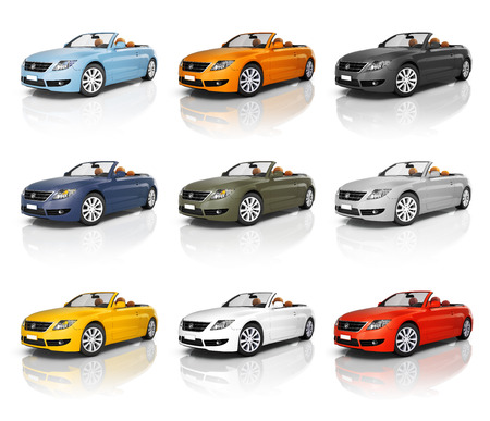 red sports car: Car Automobile Contemporary Drive Driving Vehicle Transportation Concept
