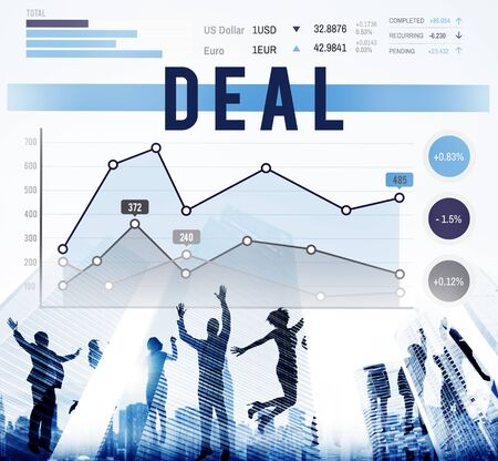 winning stock: Deal Agreement Collaboration Strategy Marketing Concept