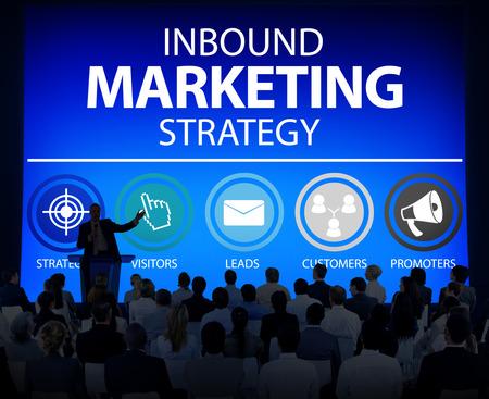 inbound marketing: Inbound Marketing Strategy Commerce Solution Concept