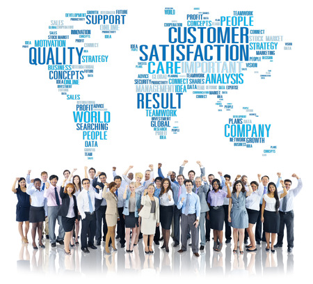 quality service: Customer Satisfaction Reliability Quality Service Concept Stock Photo