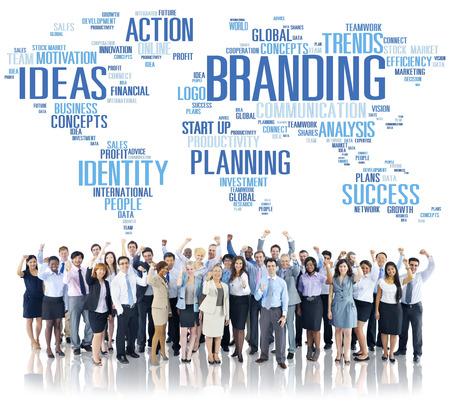 Branding World Global Marketing Identity Individuality Concept Stock Photo