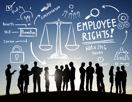 Werknemer Rechten Employment Equality Job Business Communication Concept Stockfoto