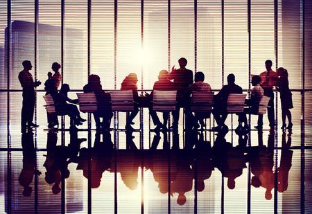 pizarra: Reuni�n Colaboraci�n Seminario Business Conference Team Concept Foto de archivo