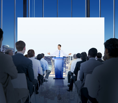 seminar: Diversity Business People Meeting Conference Seminar Concept Stock Photo