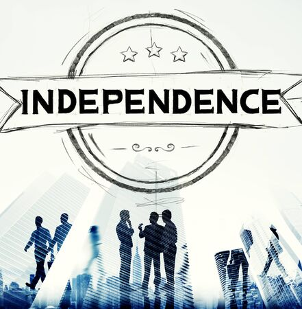 self control: Independence Liberty Peace Self Control Concept Stock Photo