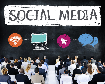 corporate social: Social Media Connection Communication Technology Network Concept Stock Photo